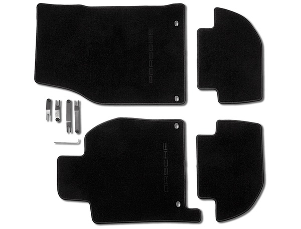 Floor mats in Black for Porsche 944 and 968 (LHD)