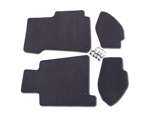 Floor mats in Classic Grey for Porsche 928 S4/GT and GTS (LHD)