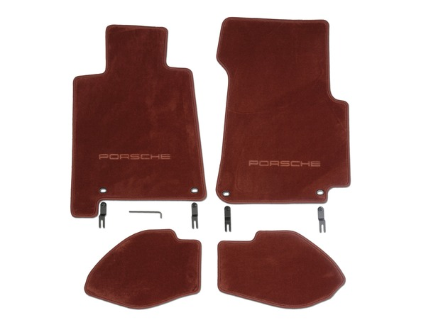 Floor mats in Chestnut Brown for Porsche 928 S4/GT and GTS (LHD)