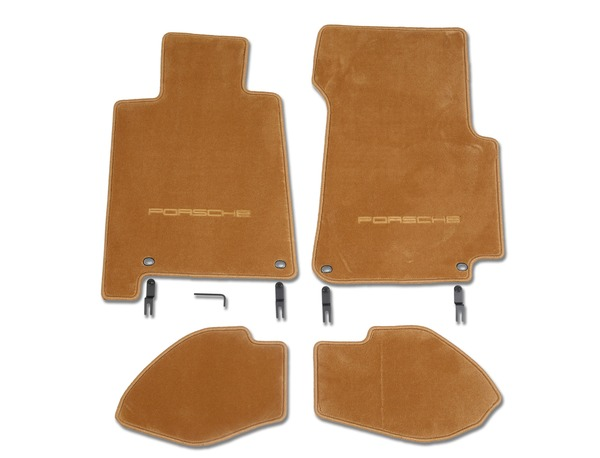 Floor mats in Cashmere Beige for Porsche 928 S4/GT and GTS (LHD)