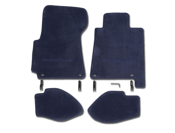 Floor mats in Cobalt Blue for Porsche 928 S4/GT and GTS (RHD)