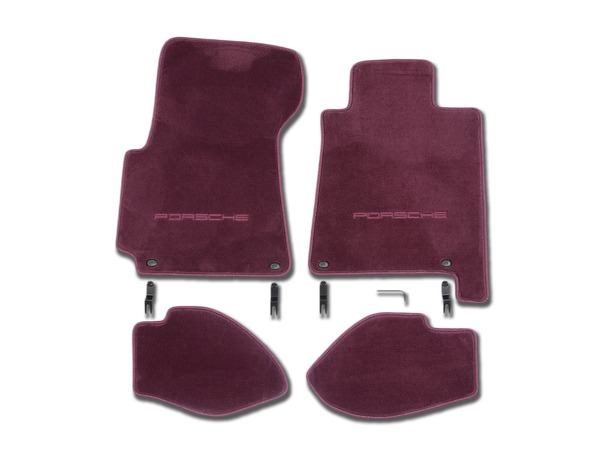 Floor mats in Magenta for Porsche 928 S4/GT and GTS (RHD)
