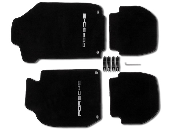 Floor mats in Black for Porsche 911 (LHD)