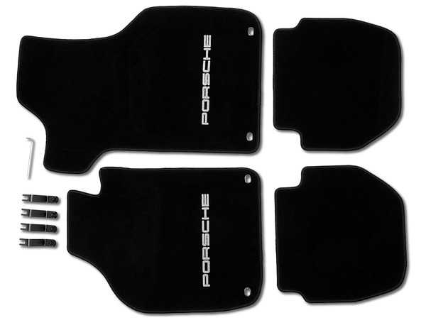 Floor mats in Black for Porsche 911 Cabriolet and Targa (LHD)