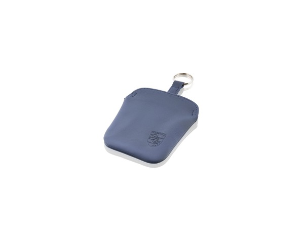 Key pouch in Marine Blue leather for Porsche 911