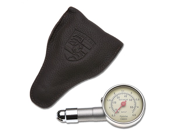 Tire Pressure Gauge With Leather Case For All Porsche