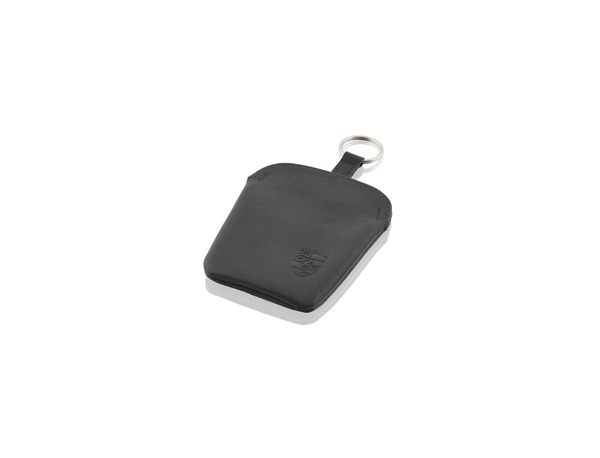 Key pouch in black leather for Porsche 911