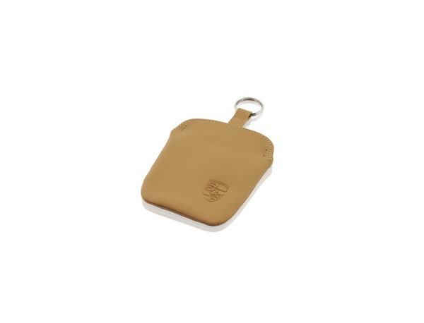 Key pouch in Cashmere Beige leather for Porsche 911