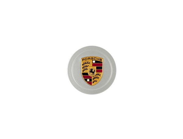 Hub cap in Silver with full-color crest for Porsche 993, 986 and 996