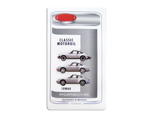 Porsche Classic engine oil sticker 10W60