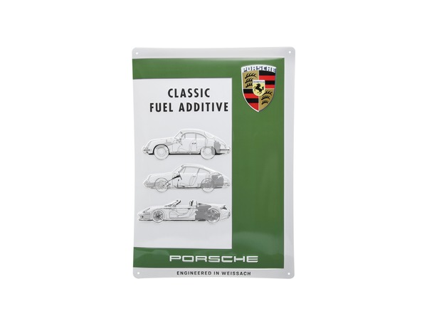 Metal plate – Porsche Classic Fuel Additive